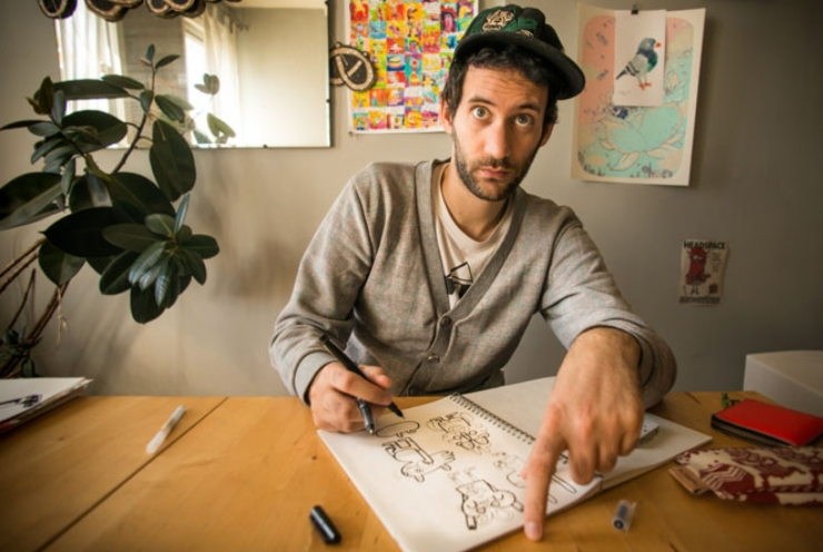 Skillshare series: Jon Burgerman, Photo by Nathan Beddows | How Far From Home