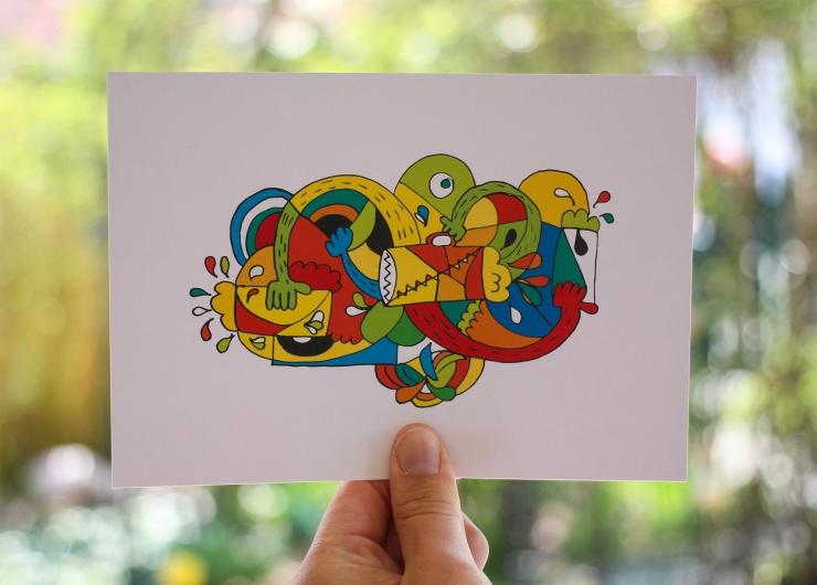 Jon Burgerman Style Doodle - Steve | How Far From Home
